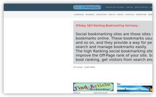 Best Ranking Germany Bookmarking Today | Submit Page