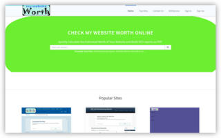 Website worth and traffic calculate free Tools