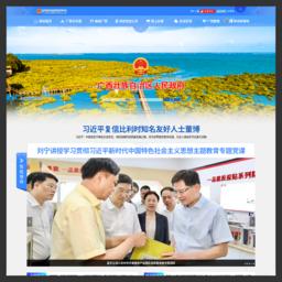 广西壮族自治区人民政府门户网站 www.gxzf.gov.cn截图