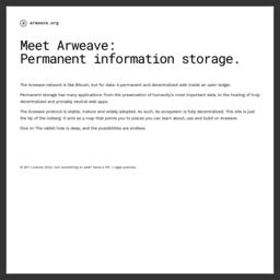 Arweave(AR)