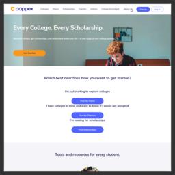 Cappex|国外大学选校筛选平台_swww.cappex.com