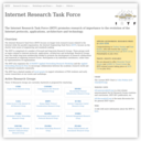 Internet Research Task Force(IRTF)