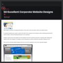 50 Excellent Corporate Website Designs