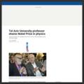 http://www.timesofisrael.com/tel-aviv-university-professor-shares-nobel-prize-in-physics/